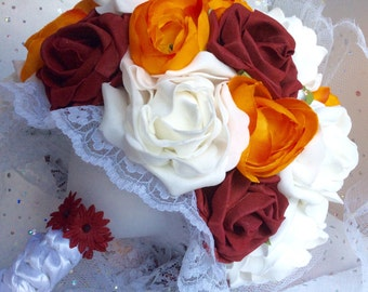 Bridesmaid bouquet, rustic bouquet, autumn wedding, fall wedding, fall colors, alternative bouquet, keepsake bouquet, wedding flowers