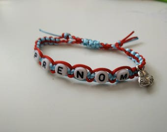 Bracelet child's name, choice of colors!
