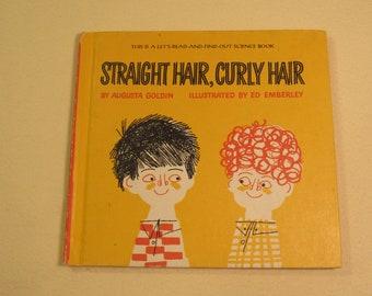 Straight Hair Curly Hair Vintage childrens book