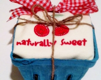 Organic...Ripe for the Gifting...Onesie...Naturally Sweet...Cherries...Fruit Carton...Baby Gift