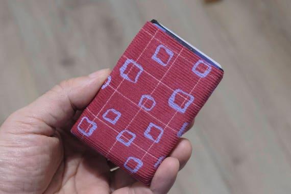 Vegan Wallet, Design Corduroy Mens Wallet, Minimalist Wallet, Corduroy Womens Wallet, Slim Wallet - RFID Blocking Wallet - Limited Edition
