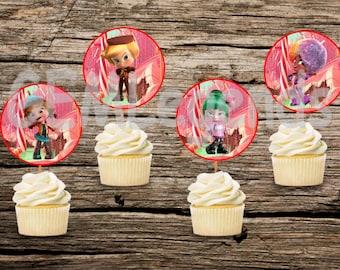 Wreck it Ralph Birthday, Sugar Rush Birthday, Wreck It Ralph Birthday Party, Sugar Rush Birthday Party, Sugar Rush Cupcake Toppers, INSTANT