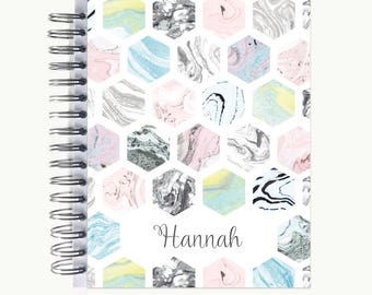 Address and/or Password Book – Personalized   Spiral   Business   Contacts   Gifts   Marble