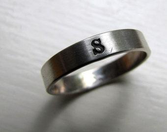 Personalized Monogram Band Ring
