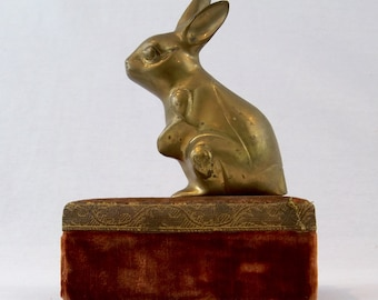 Brass Bunny Rabbit Vintage Decor