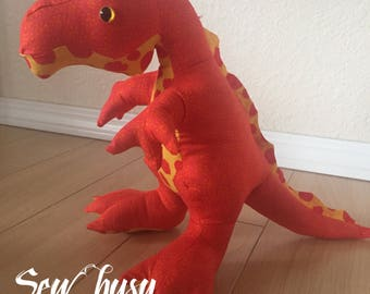 Stuffed handmade dinosaur