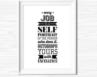 Office Wall Art Teamwork Quotes Leadership Quotes Cubicle Decor Printable Success Quote Motivational Wall Decor Inspirational Quote Print