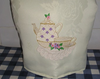Embroidered Coffee Pot Cozy