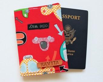 Boys Passport Cover, Kids Passport Holder, Baby Passport Case, Taxi Car Passport Cover - SKPC37