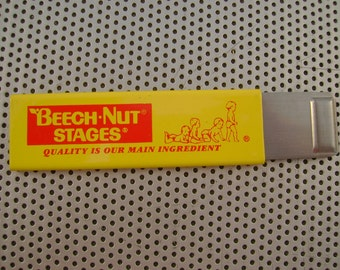 Vintage NOS Beech Nut Stages Baby Food Advertising Box Cutter Utility Knife
