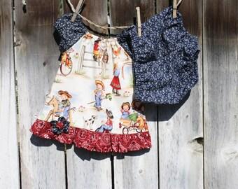 Baby Girl Cowgirl Dress, Baby Western Dress