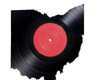 Vinyl Record - Ohio - Vinyl Record Wall Art - Wall LP - Black Home Decor - Laser cut