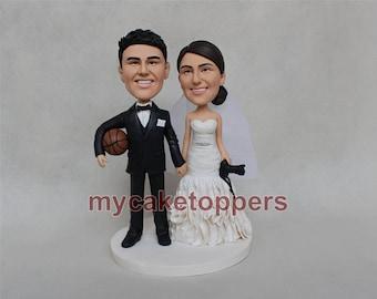 wedding Cake topper camera basketball cake topper camera