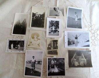Antique Photographs - Lovely Women - Lot of 12 - 1920's through 1950's