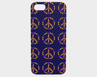Rainbow Peace Sign iPhone 5/5s Case
