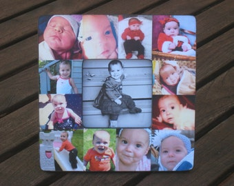 Personalized Baby's First Year Frame, Baby Picture Frame, Photo Collage Frame, Unique Mother's Day Gift, Father's Day, Dad Birthday Gift