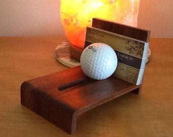 Golfer's Business Card Holder