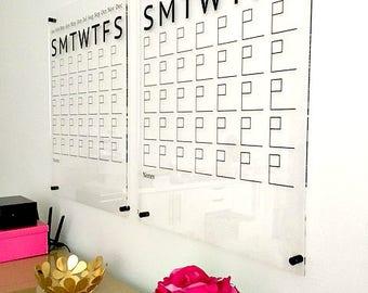 Acrylic Calendar, Wall Calendar, Dry Erase Calendar, Large Wall Calendar, Weekly Calendar