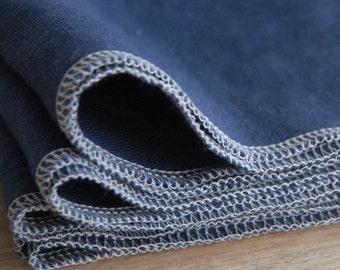 Navy Blue Linen Napkins, Choose Your Quantity