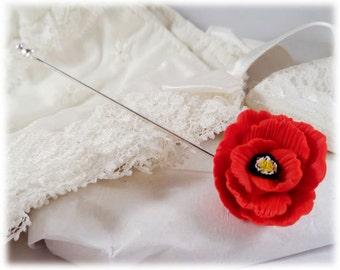 Poppy Brooch or Stick Pin - Poppy Jewelry