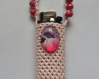 Pink dreams. Handmade crochet lightercozy.