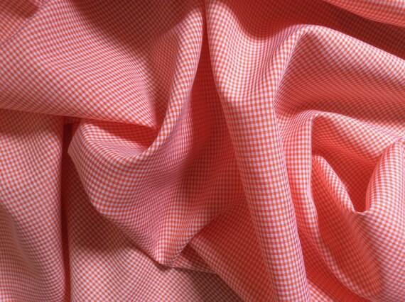 Cotton poplin with weave checks, orange