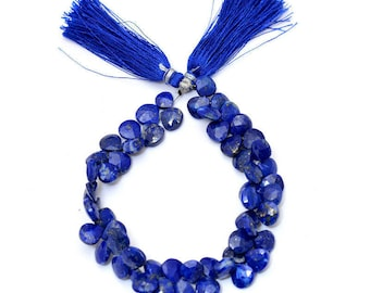 "Lapis Lazuli Briolette Beads |4mm to 6mm Heart | 8"" inch Strand