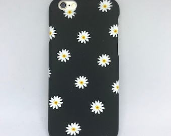 New! Floral flower iPhone case iPhone 6 s phone case petal daisy hard shell matte phone case womens