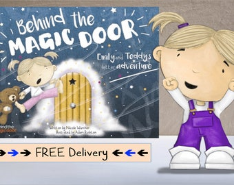 Personalised Children's Book, Behind the Magic Door, Ideal Gift, Baby Gift, Newborn Gift, Keepsake, with Free Shipping, SAME DAY PROCESSING