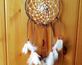 Handmade dream catcher with feathers, wall hanging dream catcher home decor gift