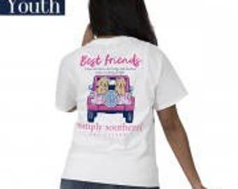 Simply Southern® YTH-PREPPYBFF-WHITE