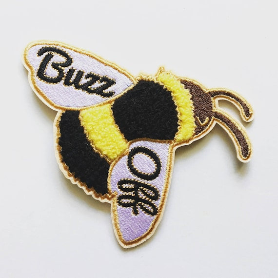 NEW ** Buzz Off Bumble Bee Chenille Embroidered Iron On Patch