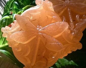 Blood Orange Dragonfly Soap -Vegan-