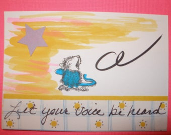 ACEO ARTIST TRADING Card  Let Your Voice Be Heard