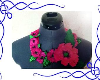 FSL Poppy , Poppy Free standing lace embroidery design 3D  Poppy three-dimensional, 3 dimensional Poppy, Poppy FSL