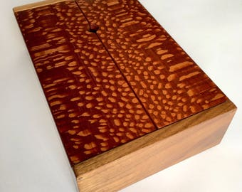 Lacewood and Walnut Wooden Remote Control Box