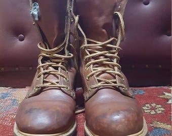 90s Distressed Carolina Boots Fits Women's Size 9.0