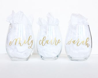 PERSONALIZED // Stemless Wine Glasses
