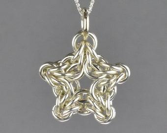 Byzantine Star Chainmail Pendant