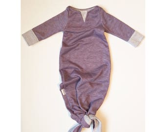 Heather Plum Knotted Sleeper