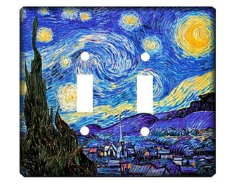 Van Gogh Starry Night Double Light Switch Art Cover