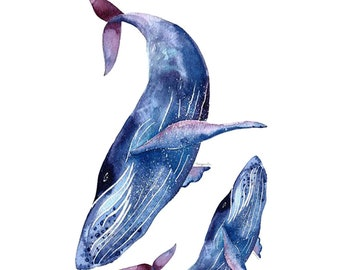 Whale Temporary Tattoos T102