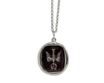 Holy Spirit - Dove Wax Seal Pendant