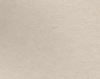 Antique Tan Handmade Paper 8x10 - Deckle Edge Small Fine Art Paper