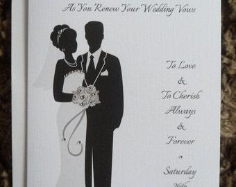 Handmade Personalised A5 Wedding Vow Renewal Card