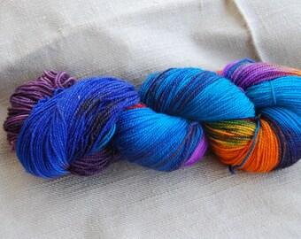 handdyed Yarn, 100g/ 3,5oz , colour sirtaki dunkel