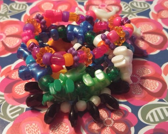 Colorful Chunky Kandi Bead Bracelets
