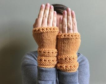Ready to Ship | Marigold Yellow Fingerless Gloves