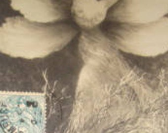 SALE Vintage, Artist Signed, Fantasy, RPPC (John Laurent)