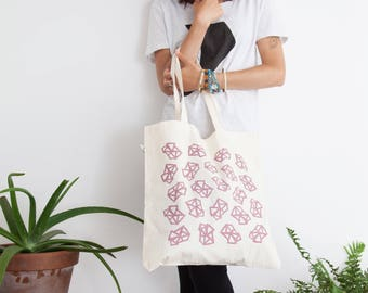 Blend - Tote Bag, Shopping Bag, Cotton Tote - hand screen printed - 100% Certified Organic Cotton - by Mileseed